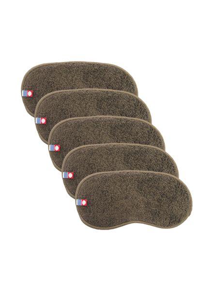 Imabari Forehead Towel (Dark Brown) 5 pcs set