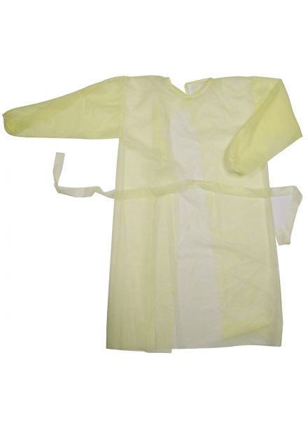 Disposable Medical Gown (Yellow) 10 pcs