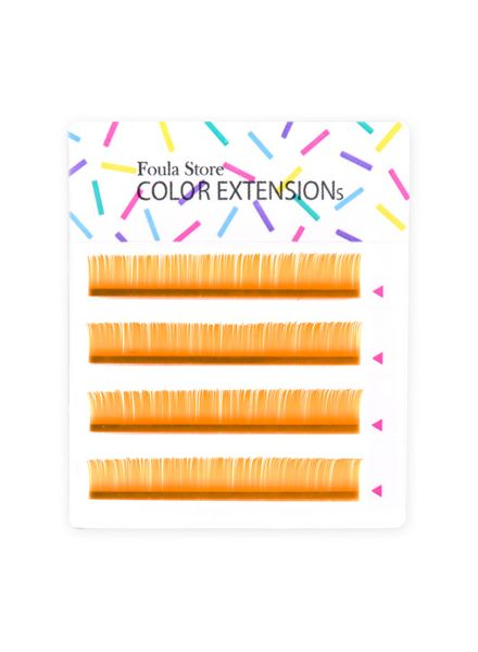 Color Lashes 4 Lines Orange
