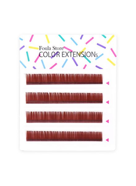 Color Lashes 4 Lines Wine Red