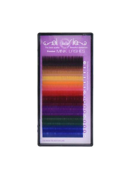 Color Lashes 16 Lines Color MIX